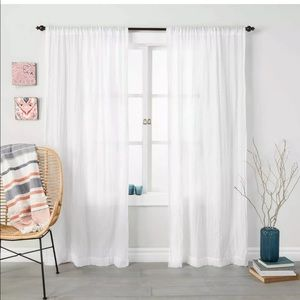 "Opal House 95""x42"" Crushed Sheer Curtain Panel"